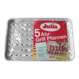 Julia Grillpfanne Aluminium 34x22x27cm 5er Pack