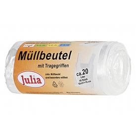 Julia Müllbeutel mit Tragegriffen 20 l 40Stück Rolle