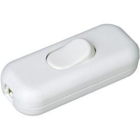 Kopp Schnurschalter 1-polig mit Wippe 250Volt weiß
