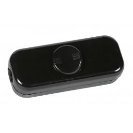 Kopp Schnurschalter 2-polig mit Wippe 250Volt schwarz