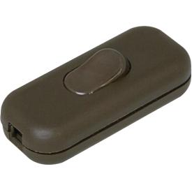 Kopp Schnurschalter 1-polig mit Wippe 250Volt braun