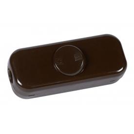 Kopp Schnurschalter 2-polig mit Wippe 250Volt braun
