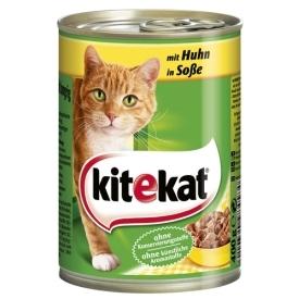 Katzenfutter Mit Huhn in Sauce