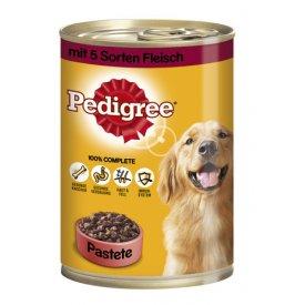 Pedigree Hundefutter Pastete mit 3 Sorten Fleisch in Pastete