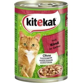 Katzenfutter mit Rind in Gelee