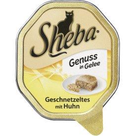 Sheba Katzenfutter Genuss in Gelee Geschnetzeltes mit Huhn