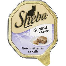 Sheba Katzenfutter Genuss in Gelee Geschnetzeltes mit Kalb