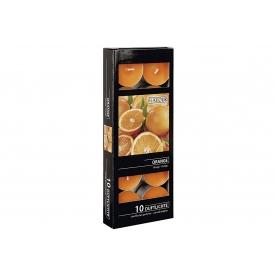 Teelichte Orangen-Duft Ø4cm orange 10er Karton