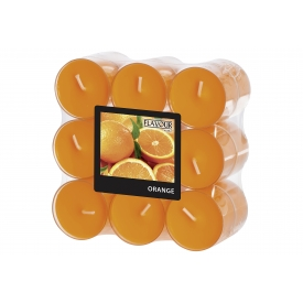 GALA-Kerzen Duft Teelicht in PC Hülle orange/Orange  18er Pack