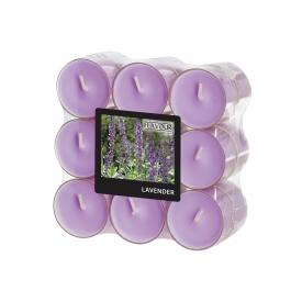 GALA-Kerzen Duft-Teelicht in PC Hülle pegonia/Lavendel  18er Pack