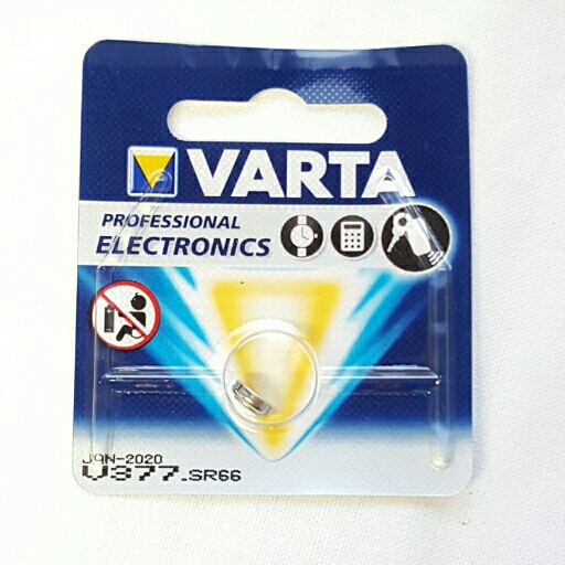 Varta  Silberoxid Uhrenbatterie, Knopfzellen 1,55 V 377