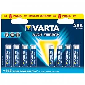 Varta  Batterie Alkaline, Micro, AAA, LR03, 1.5V High Energy, Retail Blister
