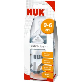 Nuk First Choice+ Trinkflasche Silikon Sauger Gr. 1 0-6 Monate