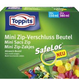 Toppits Mini Zip Verschluss Beutel