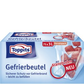 Toppits Gefrierbeutel Standboden Vorratspack 3L