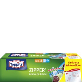 Toppits Zipper Allzweck-Beutel 1 Liter