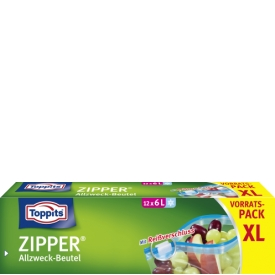 Toppits Zipper Vorratspack XL 6 Liter