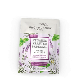 Frühmesner veganes Kräuter Badesalz Lavendel & Basilikum