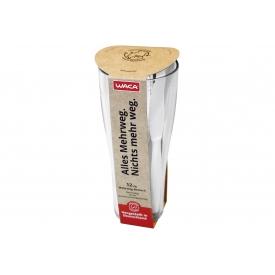 Waca 12 Kunststoffmesser im Weizenbecher weiß
