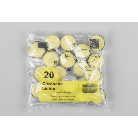 Teelicht mit Citronelladuft gelb 20 Beutel