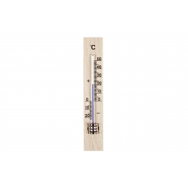 Tfa-dostmann TFA Zimmer-Thermometer Holz 15x2,6cm