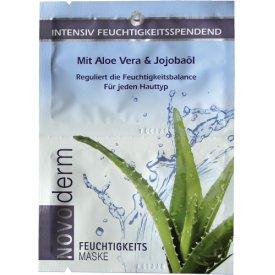 Novoderm Spezialpflege Feuchtigkeitsmaske Aloe Vera &  Jojobaöl