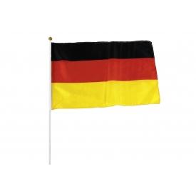 Flagge mit Stab 30x45cm Deutschland 100% Polyester Stab 60cm