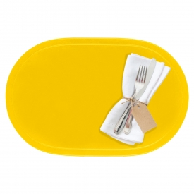Saleen Tischset oval Kunststoff 45,5x29cm sonnengelb