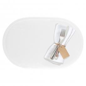 Saleen Tischset oval Kunststoff 45,5x29cm weiß