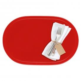 Saleen Tischset oval Kunststoff 45,5x29cm rot