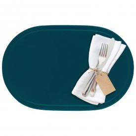 Saleen Tischset oval Kunststoff 45,5x29cm kobaltblau