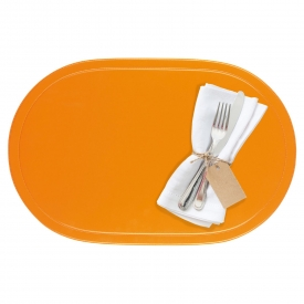 Saleen Tischset oval Kunststoff 45,5x29cm orange