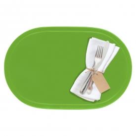 Saleen Tischset oval Kunststoff 45,5x29cm apfelgrün