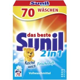 Sunil Pulver 2in1   mit Kuschelweich Frischeduft
