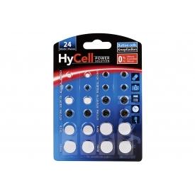 Ansmann HyCell Lithium Knopfzellensortiment Alkaline 24 teilig