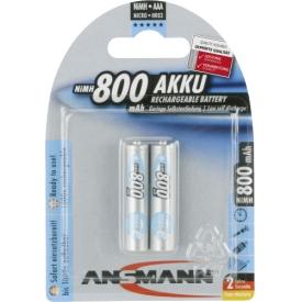 Ansmann Akku MaxE 2 x Micro 0,8 Ah Blister