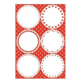 Braun + Company BRAUN+COMPANY Etiketten blanko rot 24 Sticker