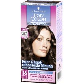 Poly Color Haartönung Tönungs-Wäsche 16 Mittelbraun Stufe 3