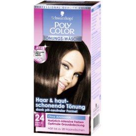 Poly Color Haartönung Tönungs-Wäsche 24 Dunkelbraun Stufe 3