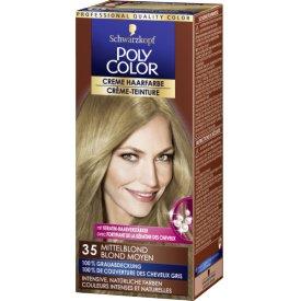 Poly Color Dauerhafte Haarfarbe Creme 36 Mittelblond