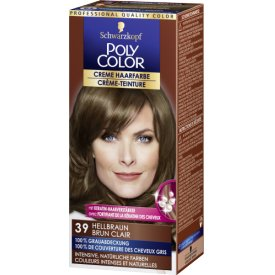Poly Color Dauerhafte Haarfarbe Creme 39 Tint Natural Brown