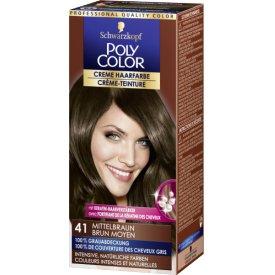 Poly Color Dauerhafte Haarfarbe Creme 41 Medium Brown
