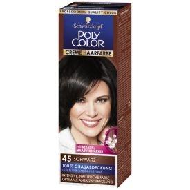 Poly Color Dauerhafte Haarfarbe Creme 45 Schwarz Stufe 3