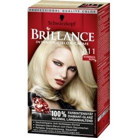 Schwarzkopf Brillance Dauerhafte Haarfarbe Intensiv-Color-Creme 811 Scandinavia Blond