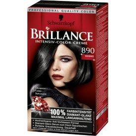 Schwarzkopf Brillance Dauerhafte Haarfarbe Intensiv-Color-Creme 890 Schwarz