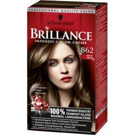 Schwarzkopf Brillance Dauerhafte Haarfarbe Intensiv-Color-Creme 862 Naturbraun