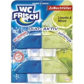 WC Frisch Duo Activ Duftspüler Limette &  Minze 2er