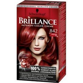 Schwarzkopf Brillance Dauerhafte Haarfarbe Intensiv-Color-Creme 842 Kaschmir Rot