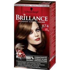 Schwarzkopf Brillance Dauerhafte Haarfarbe Intensiv-Color-Creme 874 Samt Braun