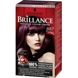 Schwarzkopf Brillance Dauerhafte Haarfarbe Intensiv-Color-Creme 887 Mahagoni Satin